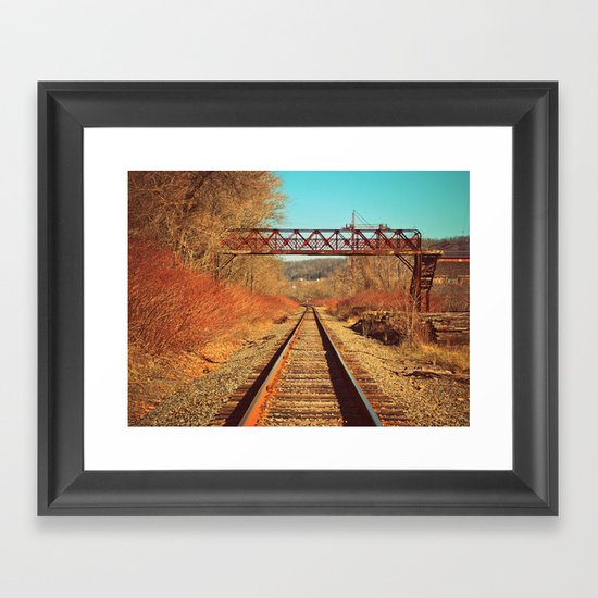 On The Right Track Framed Art Print