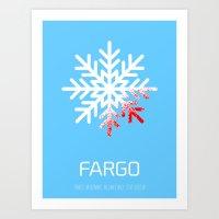 fargo Art Prints featuring Fargo by Brian Walker