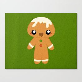 Christmas Card - Gingerbread Kid Canvas Print