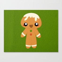Christmas Card - Gingerbread Kid Canvas Print