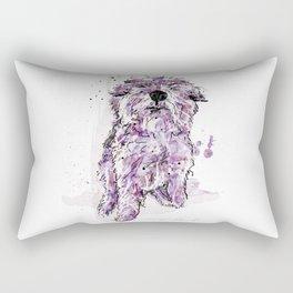 Purple Dog Rectangular Pillow