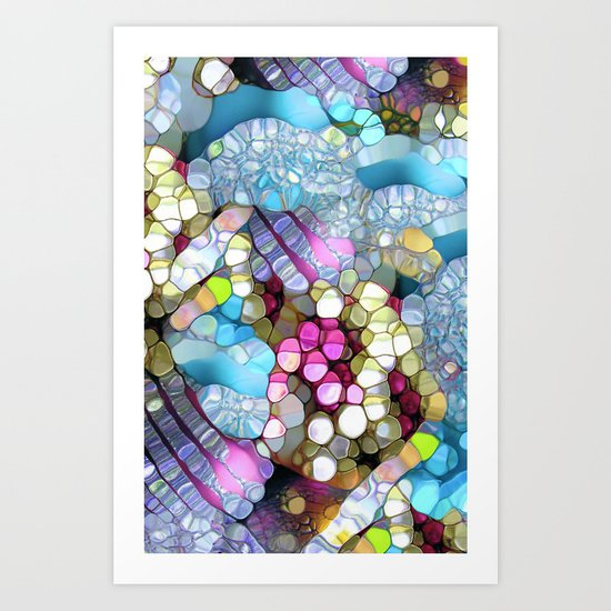 Coctails at the pool. Art Print