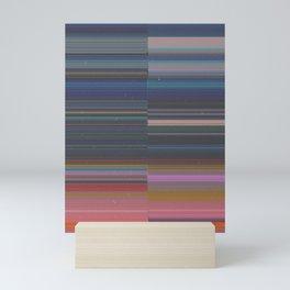 scanner stripes Mini Art Print