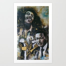 No racism but one Love Art Print