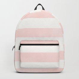 Blush Pink Coral Stripes Backpack