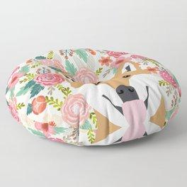 Shiba Inu floral dog face cute peeking shiba inus gifts Floor Pillow