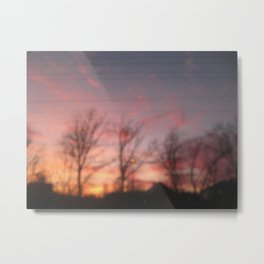 beau coucher  de  soleil   Metal Print