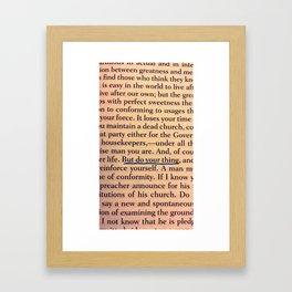 Do your thing. Framed Art Print
