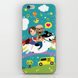 Rick and Ellen Fly to the Taco Bus iPhone Skin