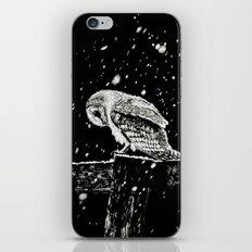 Snowfall at Night (Owl) iPhone & iPod Skin