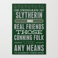 slytherin Canvas Prints featuring Slytherin by Dorothy Leigh