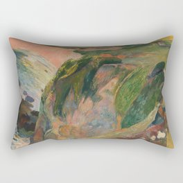 The Flageolet Player on the Cliff, Paul Paul Gauguin Rectangular Pillow