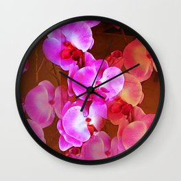 Pink Orchid Visual Delight Wall Clock