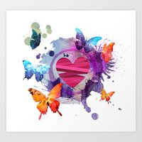 You gave me butterflies Art Print