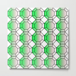 Octa Grid Metal Print