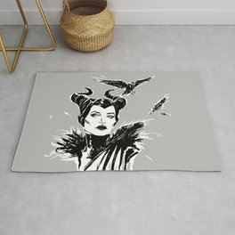 Maleficent Fan Art Angelina Jolie from Sleeping Beauty Rug