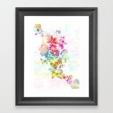 paisley flutter Framed Art Print