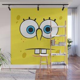 Spongebob Surprised Face Wall Mural