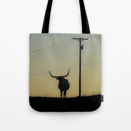 Longhorn at Sunset Tote Bag