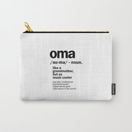 Oma Gift For Grandma Women Birthday Mother Day Gift Carry-All Pouch
