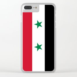 Syrian flag - may PEACE prevail Clear iPhone Case