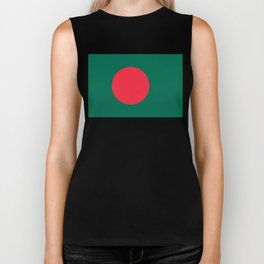 Flag of Bangladesh, Authentic color & scale Biker Tank