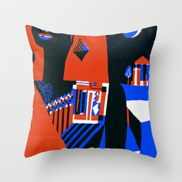 Missing Tooth Throw Pillow
