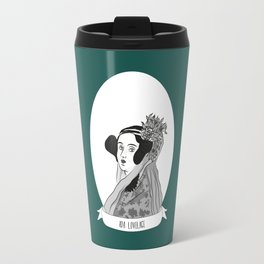 Ada Lovelace Illustrated Portrait Travel Mug