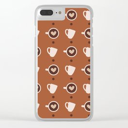 Cup of Love Clear iPhone Case