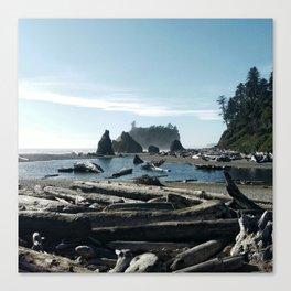 Pacific coast & Rockies Canvas Print