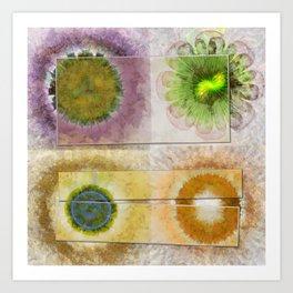 Lazed Consonance Flowers  ID:16165-024553-49331 Art Print