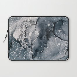 Icy Payne's Grey Abstract Bubble / Snow Painting Laptop Sleeve