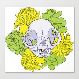 Persian Kitty Skull Canvas Print