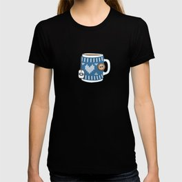 Cozy Blue Mugs T-shirt