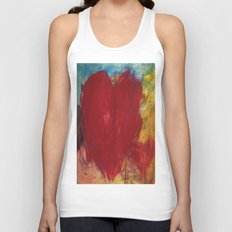 Blood Red Love Unisex Tank Top