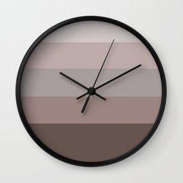 Puce Stripes Lavender Color Block Pattern Wall Clock
