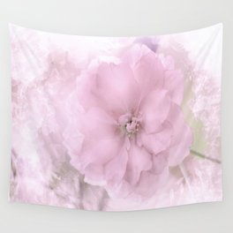 Pink Smoked Floral Wall Tapestry