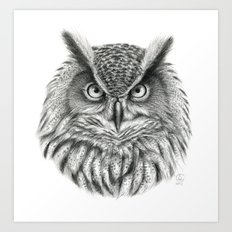 Bubo bubo G2012-046 owl Art Print