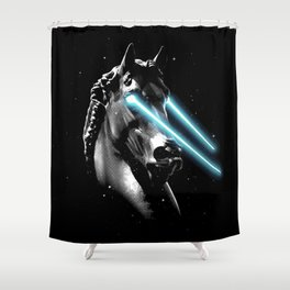 Space Age Horse Shower Curtain