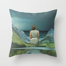 They say she's waiting on his return Throw Pillow
