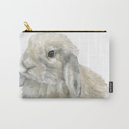 Lop Rabbit Watercolor Painting Bunny Carry-All Pouch