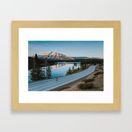 Two Jack Lake during sunrise Framed Art Print