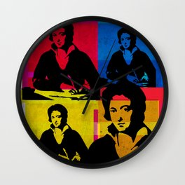 PERCY BYSSHE SHELLEY - ENGLISH POET, 4-UP POP ART COLLAGE Wall Clock