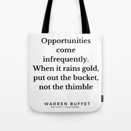 38| Warren Buffett Quotes | 190823 Tote Bag
