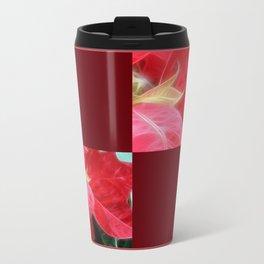 Mottled Red Poinsettia 2 Blank Q10F0 Travel Mug