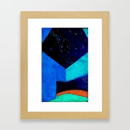 Building at night Framed Art Print