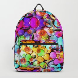 Candy Flower Drops by Nico Bielow Backpack