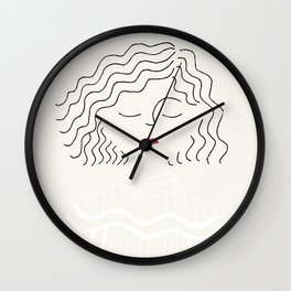 Sophie in white dress Wall Clock