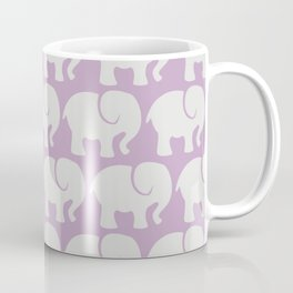 Troop Of Elephants (Elephant Pattern) - Gray Purple Coffee Mug