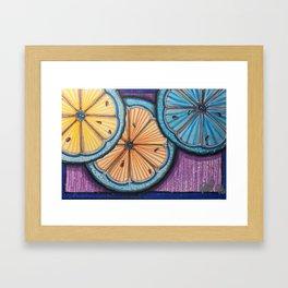 Just Us Citrus Framed Art Print
